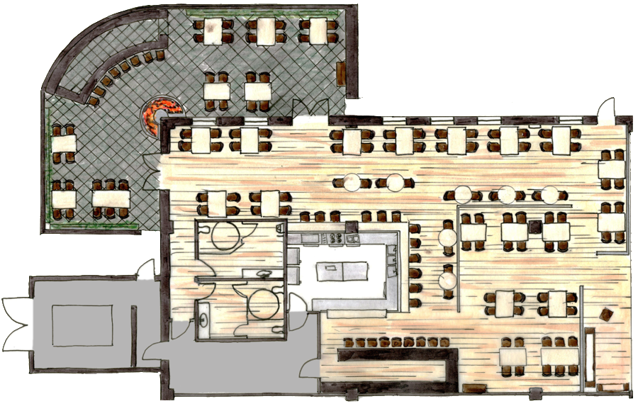 Diary of myweku restaurant the architectural whatnots myweku tastes Bar floor plans designs for free